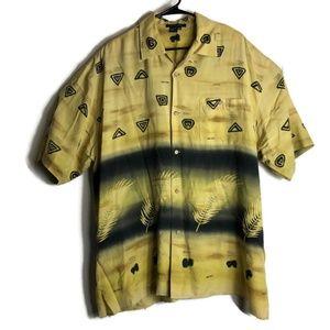Vintage Tulliano Men's Hawaiian Silk Shirt Top